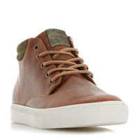 Dune Scotty Padded Cuff Chukka Boots Tan