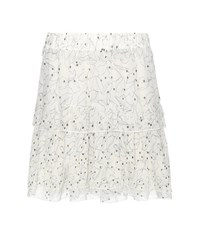 See By Chloe Printed Chiffon Skirt White