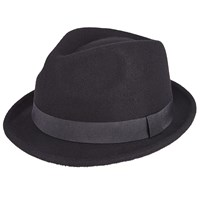 John Lewis Wool Trilby Hat Black