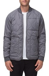Tavik Men's 'Nomad' Zip In Compatible Quilted Bomber Jacket Concrete Camo