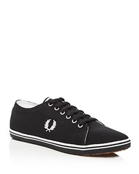 Fred Perry Kingston Twill Lace Up Sneakers Black