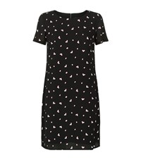 Armani Jeans Abstract Print Shift Dress Female Black