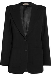 Bottega Veneta Wool Pique Blazer Black