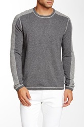 Autumn Cashmere Cashmere Contrast Panel Crew Sweater Multi