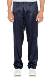 Opening Ceremony Silky Flannel Track Trouser Navy