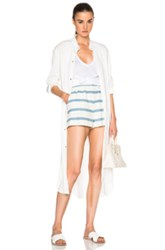 Baja East Satin Button Up Top In White
