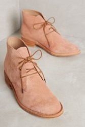 Anthropologie Huma Blanco Manuela Lace Up Booties Pink