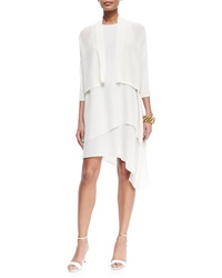 Eileen Fisher 3 4 Sleeve Kimono Cardigan White Women's