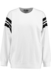Dkny Cara Delevingne Cotton Terry Sweatshirt White