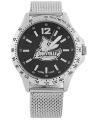 Game Time Louisville Cardinals Cage Series Watch Silver Black