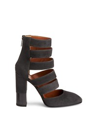 Aquatalia By Marvin K Leather Caged Pumps Grey