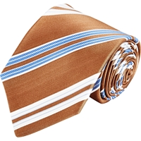Kiton Diagonal Stripe Neck Tie Brown