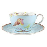 Pip Studio Early Bird Cappuccino Cup And Saucer Blue