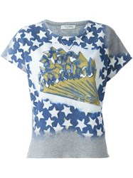 Valentino Star Studded T Shirt Grey