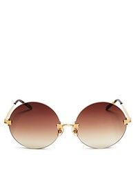 Wildfox Couture Pearl Sunglasses 54Mm Gold Tort Brown Gradient