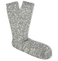 Anonymous Ism Marled Cotton Blend Socks Gray