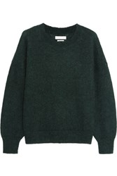 Etoile Isabel Marant Clifton Mohair Blend Sweater Forest Green