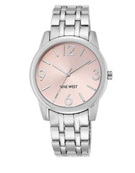 Nine West Round Dial Bracelet Watch Pink