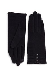 Portolano Cashmere Blend Touch Gloves Navy Blue