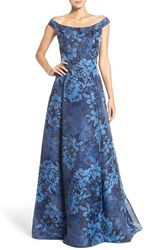 Aidan Mattox Women's Off The Shoulder Jacquard Ballgown