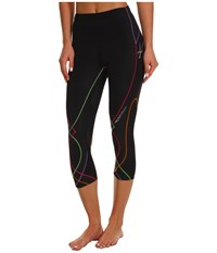 Cw X Stabilyx 3 4 Tight Black Rainbow Stitch Women's Workout