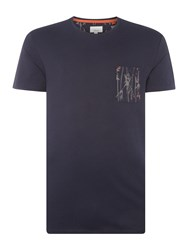 Linea Limited Edition Crew Neck Pocket T Shirt Navy