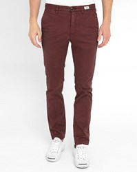 Tommy Hilfiger Burgundy Denton Straight Chinos