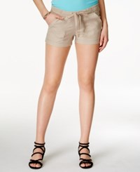 Jolt Juniors' Drawstring Shorts Beige