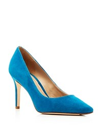 Via Spiga Carola Suede Pointed Toe Pumps Granite