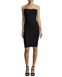 Herve Leger Fernanda Strapless Bandage Knit Cocktail Dress