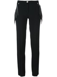 Versus Fringed Slim Fit Trousers Black