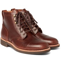 J.Crew Kenton Cap Toe Leather Boots Brown