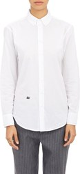 Band Of Outsiders Cropped Oxford Shirt White