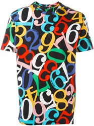 Love Moschino Number Print T Shirt Multicolour