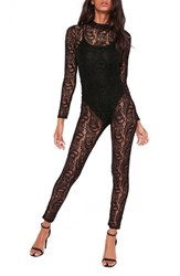 Missguided Women's Halloween Lace Jumpsuit