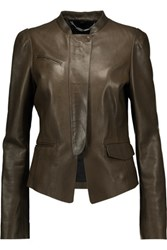 Belstaff Desford Leather Jacket Army Green