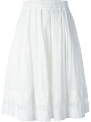 Zucca Embroidered Hem Skirt White