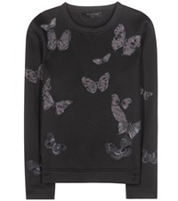 Valentino Embroidered Sweatshirt With Applique Black
