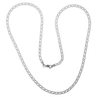 Nina B Sterling Silver Medium Double Curb Chain