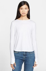 Helmut Lang Cotton And Cashmere Jersey Tee Optic White