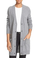 Equipment Women's 'Kathy' V Neck Cashmere Cardigan Htr Grey