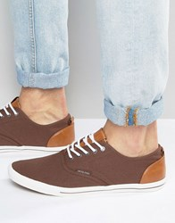 Jack And Jones Spider Canvas Plimsoll Brown