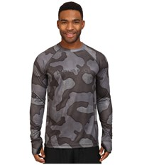 Burton Ak Power Grid Crew True Black Hombre Camo Men's Clothing Gray