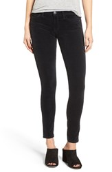 Current Elliott Women's The Ankle Velveteen Skinny Pants Washed Black