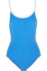 Tory Burch Laurito Swimsuit Light Blue
