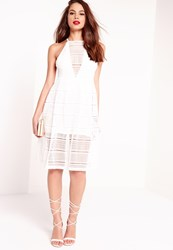 Missguided Lace Skater Dress White White