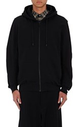 Public School Men's Galaxy Print Cotton Zip Front Hoodie Black