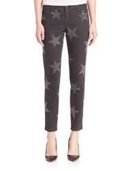 Stella Mccartney Star Print Skinny Ankle Jeans Vintage Black