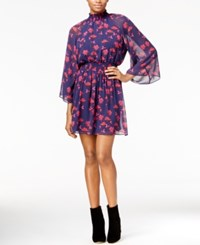 Rachel Roy Printed Smocked Dress Only At Macy's Navy Combo