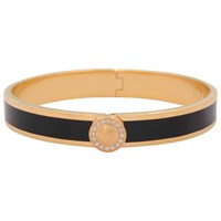 Halcyon Days Sparkle Button Bangle Black Gold